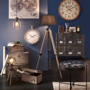 """Lampe trépied """"Fibi"""" en bois & métal H54"""