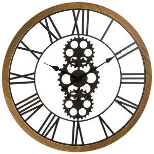 Pendule mécanique en métal & bois D70